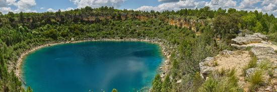 Elevated view of the lagoon, Lagunas de Canada del Hoyo, Serrania de Cuenca, Cuenca, Castilla-La...--Photographic Print