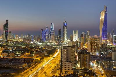 Elevated View of the Modern City Skyline and Central Business District-Gavin-Photographic Print