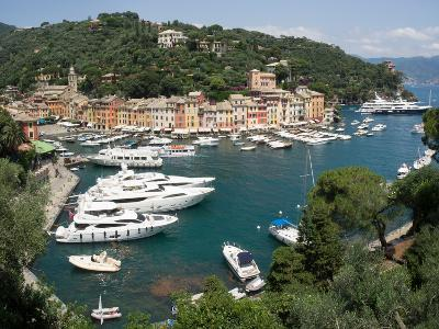 Elevated view of the Portofino, Liguria, Italy--Photographic Print