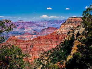 Elevated view of the rock formations in a canyon, Yavapai Point, South Rim, Grand Canyon Nationa...