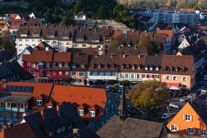 Elevated view of town, Breisach, Black Forest, Baden-Wurttemberg, Germany