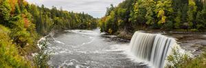 Elevated View of Waterfall, Tahquamenon Falls, Tahquamenon Falls State Park, Chippewa County