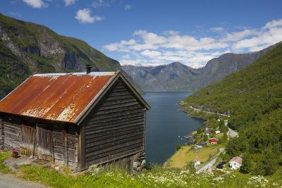 Elevated View over Aurlands Fjord, Sogn Og Fjordane, Norway, Scandinavia, Europe-Doug Pearson-Photographic Print