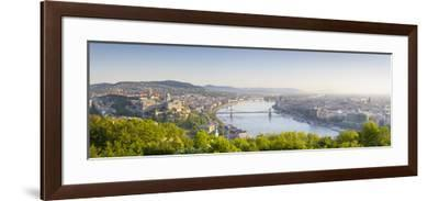Elevated View over Budapest and the River Danube, Budapest, Hungary-Doug Pearson-Framed Photographic Print
