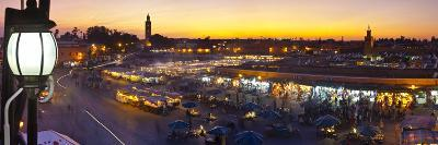 Elevated View over Djemaa El-Fna Square at Sunset, Marrakesh, Morocco-Doug Pearson-Photographic Print