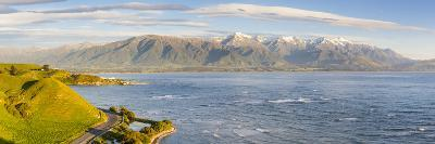 Elevated View over Dramatic Coastal Landscape, Kaikoura, South Island, New Zealand-Doug Pearson-Photographic Print