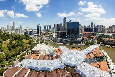 Elevated View over Fort Canning Park and the Modern City Skyline, Singapore, Southeast Asia, Asia-Gavin Hellier-Photographic Print