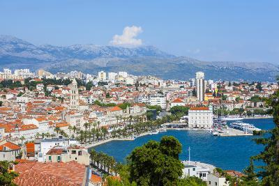 Elevated View over Split's Picturesque Stari Grad and Harbour, Split, Dalmatia, Croatia, Europe-Doug Pearson-Photographic Print