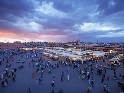 Elevated View over the DJemaa el Fna, Marrakech (Marrakesh), Morocco, North Africa, Africa, Africa-Gavin Hellier-Photographic Print