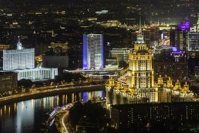 Elevated View over the Moskva River Embankment-Gavin Hellier-Photographic Print