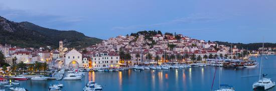 Elevated View over the Picturesque Harbour Town of Hvar, Hvar, Dalmatia, Croatia-Doug Pearson-Photographic Print
