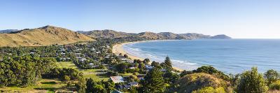 Elevated View over Wainui Beach, Gisborne, East Cape, North Island, New Zealand-Doug Pearson-Photographic Print