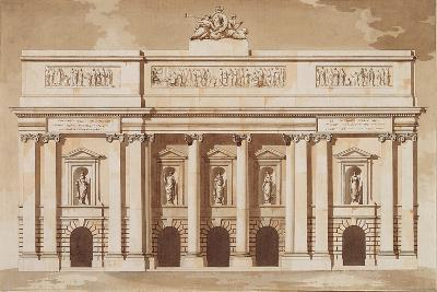 Elevation for the West Front of Parliament House-James Gandon-Giclee Print