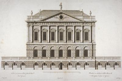 Elevation of Buckingham House, St James's Park, Westminster, London, C1770-Matthew Darly-Giclee Print