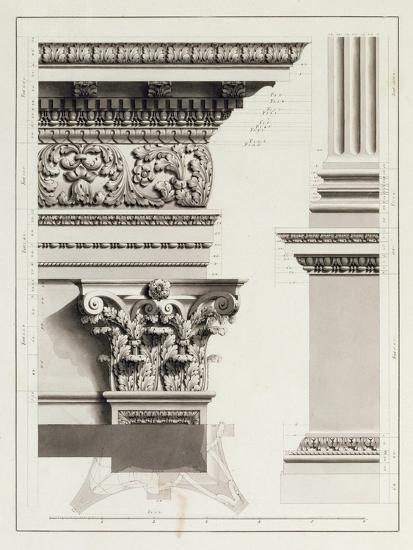 Elevation of Pedestal Entablature of the Arch at Tripoli-James Bruce-Giclee Print