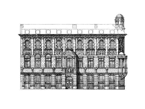 Elevation of the Institute of Chartered Accountants, 1895-John Belcher-Giclee Print