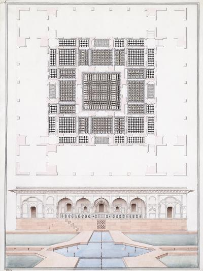 Elevation of the South Front and Garden Palace of the Suraj Bhawan at Dig, C.1830--Giclee Print