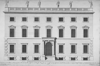 Elevation of the West Front of the Rolls Office, Chancery Lane, City of London, 1718-Hendrick Hulsbergh-Giclee Print