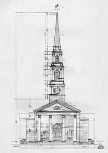 Elevation, the Village Chapel, Pinehurst, North Carolina, 1926