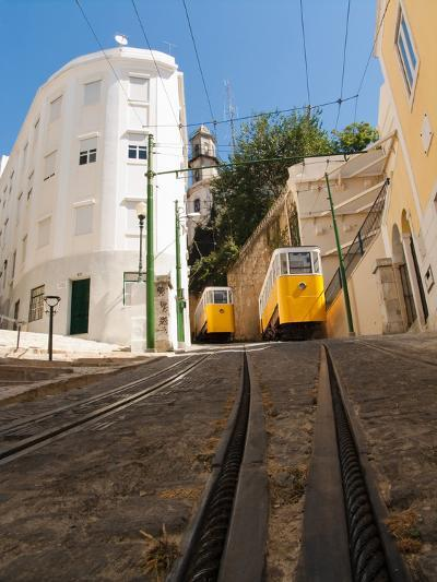 Elevator Cable Cars of Lisbon-George Oze-Photographic Print