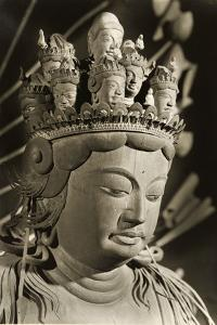 Eleven Headed Kannon Dating from the 9th Century, Heian Period, Nara, Japan