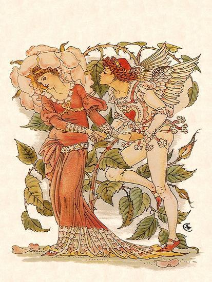 Elf and Queen of Garden, 1889-Walter Crane-Giclee Print
