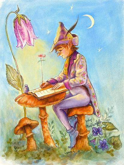 Elf Scribe-Judy Mastrangelo-Giclee Print