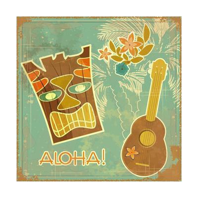 Vintage Hawaiian Card