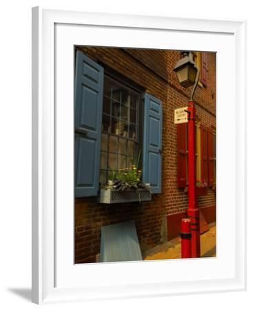 Elfreth's Alley, Philadelphia, Pennsylvania, USA-Ellen Clark-Framed Photographic Print