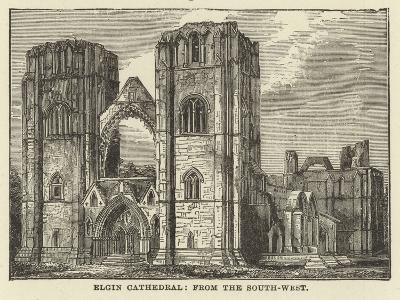 Elgin Cathedral, from the South West--Giclee Print