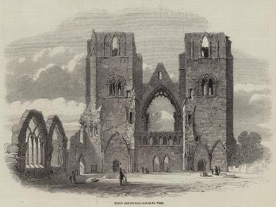 Elgin Cathedral, Looking West--Giclee Print