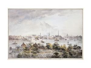 A View of Stockholm from Kungsholmen with the Royal Palace and Storkyrkan etc. by Elias Martin