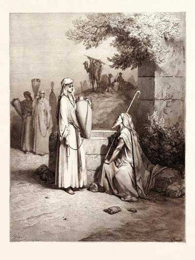 Eliezer and Rebekah-Gustave Dore-Giclee Print