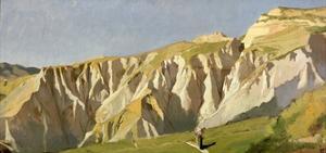 Cliffs of Volterra by Elihu Vedder