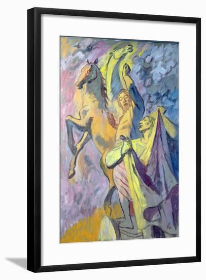 Elijah and Elisha, 1986-Hans Feibusch-Framed Giclee Print