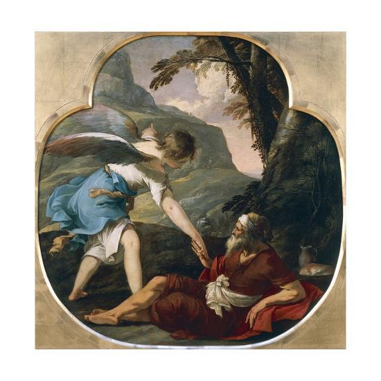 Elijah Fed by an Angel-Laurent de La Hyre-Giclee Print