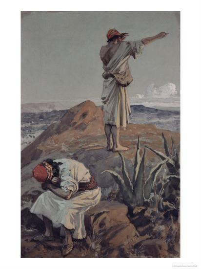Elijah from Mt Carmel Sees a Cloud Afar Off-James Tissot-Giclee Print