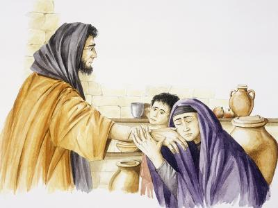 Elijah Is Received by Widow of Zarepta and Her Son--Giclee Print