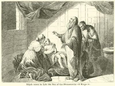 Elijah Raises to Life the Son of the Shunammite, 2 Kings, IV--Giclee Print
