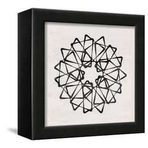 Abstract Black Geometric Pattern by Eline Isaksen