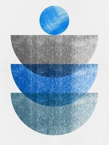 Azure Blue and Gray Half Moons by Eline Isaksen