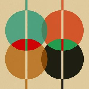 Four Overlapping Circles by Eline Isaksen