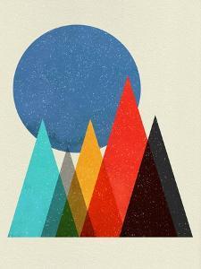 Geometric Mountains II by Eline Isaksen