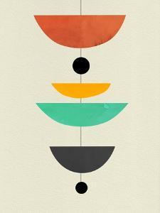 Mid Century Floating Shapes I by Eline Isaksen