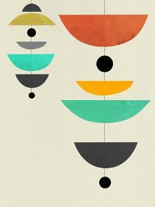 Mid Century Floating Shapes III by Eline Isaksen