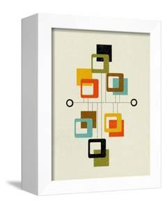 Mid Century Floating Square Shapes by Eline Isaksen
