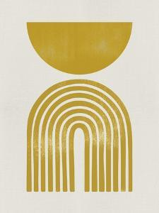 Mid Century Gold Shapes II by Eline Isaksen