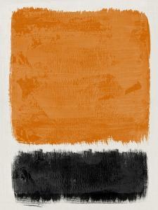 Mid Century Orange and Black Study by Eline Isaksen