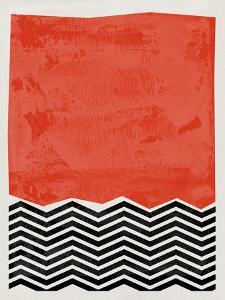 Mid Century Orange Red Study by Eline Isaksen