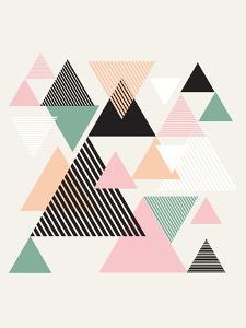 Mid Century Triangles I by Eline Isaksen